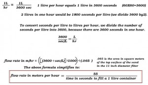 flow rate calculation