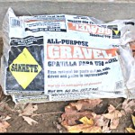 1 1/2 bags of this gravel was used to cover the drain pipe assembly