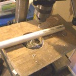 The baffle pipes are drilled with a #45 drill bit
